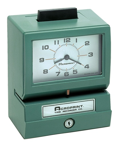 work clock in and out machine