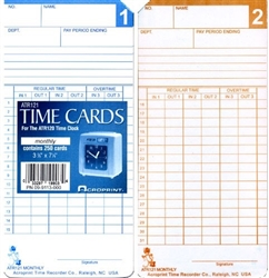 Acroprint Time cards