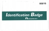Acroprint Magnetic badges (251-300 pk)