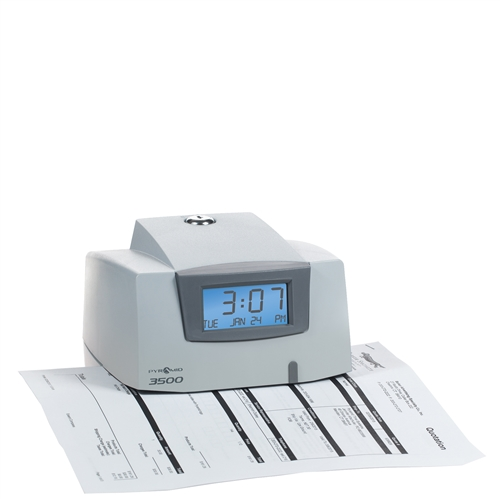 Pyramid 3500 Time Clock - Document Stamp and Job Recorder
