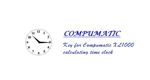 Single Key for Compumatic XL1000 calculating time clock