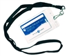 Vinyl Badge Holders with Lanyard 25pk