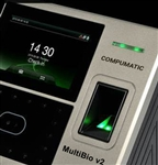 MultiBio v2 employee time and attendance system