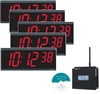 Pyramid Synchronized Clocks 6 digit Digital Bundle