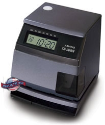 Amano TS-3000i Web-Based Time Sync Clock OATS compliant