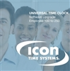 Icon Time Software Upgrade from 100 to 250 Employees Only