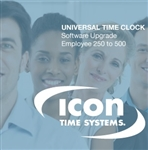 Icon Time Software Upgrade from 250 to 500 Employees Only