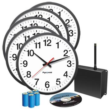 Pyramid Synchronized Clocks Analog Bundle