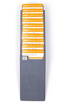 time card rack for upunch hn3000 and hn4000 timecards 10 card capacity - Card Rack